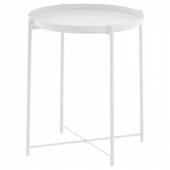ГЛАДОМ Стол сервировочный, белый, 45x53 см