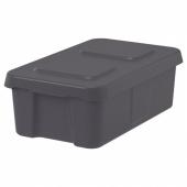 КЛЭМТАРЕ Контейнер с крышкой,д/дома/сада, темно-серый, 27x45x15 см