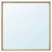 НИССЕДАЛЬ Зеркало, под беленый дуб, 65x65 см
