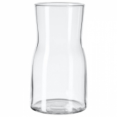 ТИДВАТТЕН Ваза, прозрачное стекло, 17 см