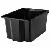ГЛЕС Контейнер, черный, 28x38x20 см