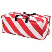 ВИНТЕР 2019 Сумка для хранения, красный, белый в полоску, 35x73x30 см/76 л