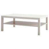 ЛАКК Журнальный стол, белый, 118x78 см