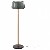 ЭВЕДАЛЬ Светильник напольный, серый мрамор, серый