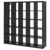 КАЛЛАКС Стеллаж, черно-коричневый, 182x182 см