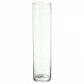 ЦИЛИНДР Ваза, прозрачное стекло, 68 см