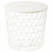 КВИСТБРУ Столик с отделениями д/хранения, белый, 44 см