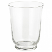 ПОМП Ваза/фонарь, прозрачное стекло, 18 см