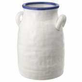 ГОДТАГБАР Ваза, керамика белый/синий, 25 см