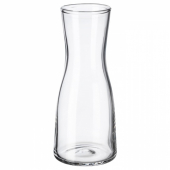 ТИДВАТТЕН Ваза, прозрачное стекло, 14 см