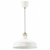 РАНАРП Подвесной светильник, белый с оттенком, 38 см