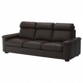 ЛИДГУЛЬТ 3-местный диван, Гранн/Бумстад темно-коричневый